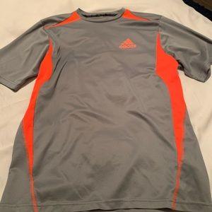 Adidas Gray & Orange athletic shirt